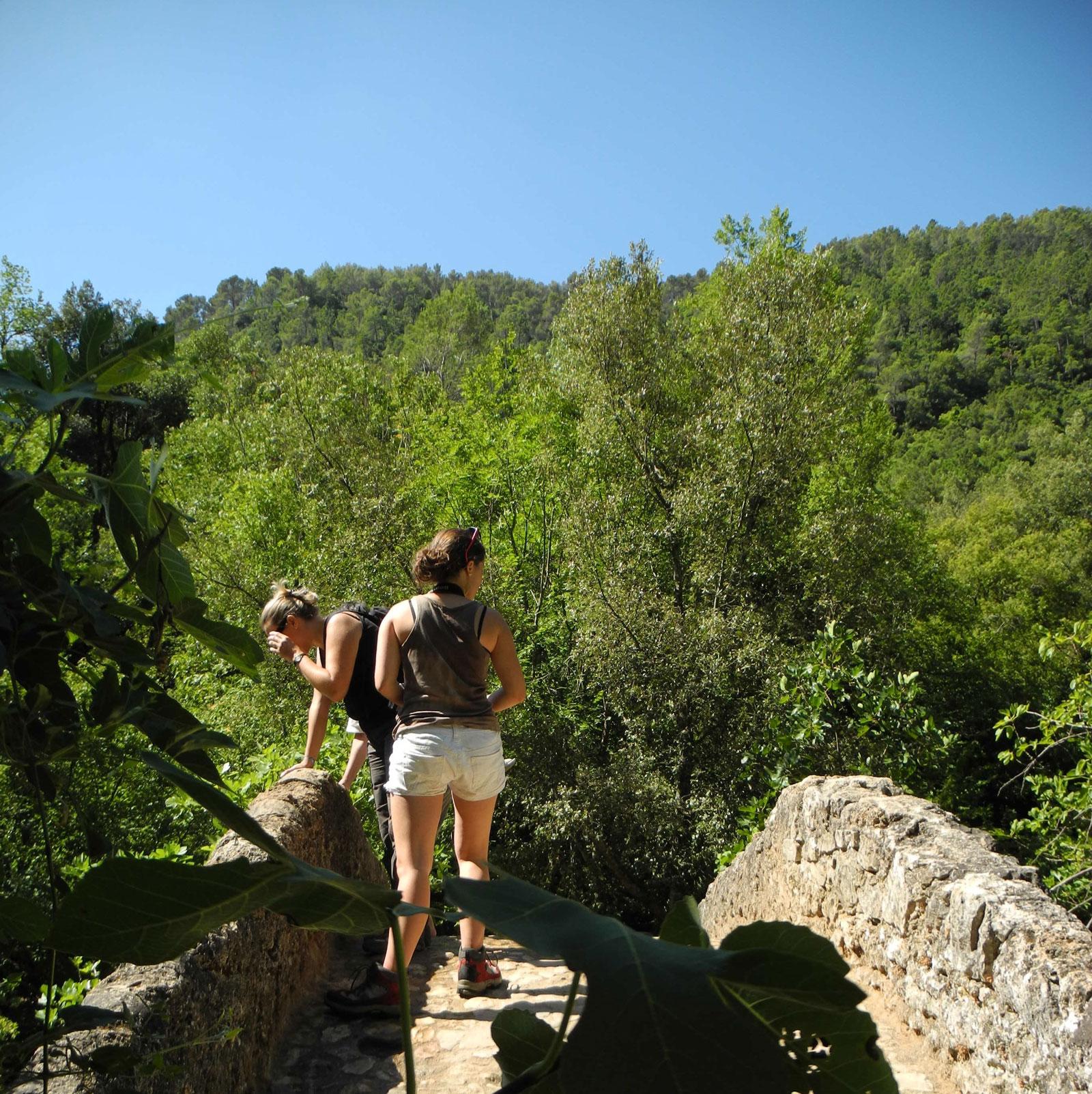 Sur le Pont des Tuves à Montauroux