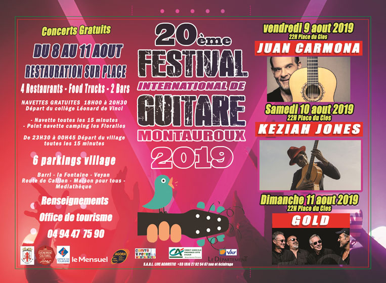 Programme Festival de Guitare 2019