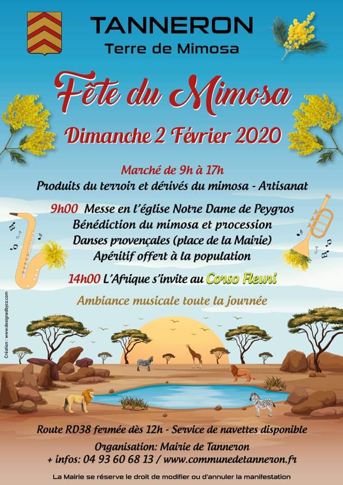 Affiche Fête du Mimosa 2020
