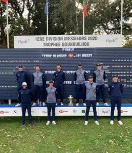équipe golf de terre blanche trophée