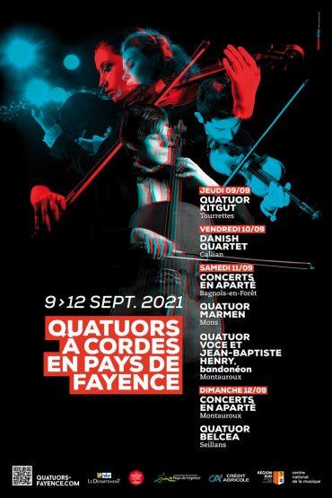 Affiche Quatuors à cordes en Pays de Fayence 2021