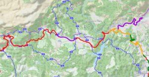 tracé sur le Pays de Fayence la Méditerranée à vélo